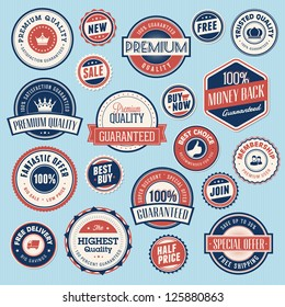 Set of vintage labels and stickers for sale