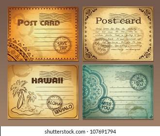 Set of vintage post cards