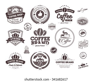 Set of vintage retro coffee labels and badges, Vintage coffee house badges vector, Vintage coffee badges and labels Vector, Vintage and Retro Labels and Badges