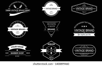Set of vintage retro label emblem design