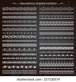 Set of vintage retro style ornamental decorative border frame patterns page decoration vector
