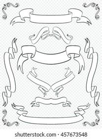 Set Of Vintage Ribbons Banner . Vector illustration