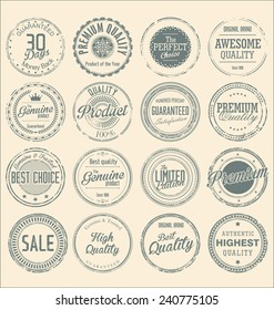 Set of vintage style grunge circular stamps