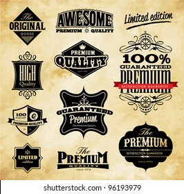 Set of Vintage Style Premium Quality, Original & Limited Edition Icons/Labels