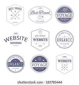 Set of vintage styled design Hipster logo.