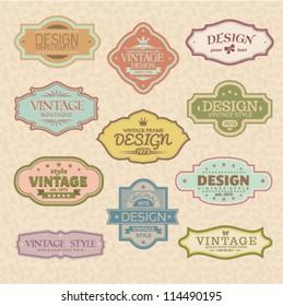 Set of vintage styled frames