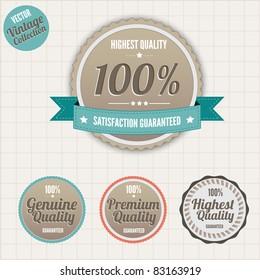 Set of vintage styled premium quality badges