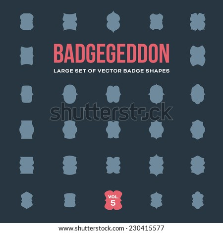 Set Vintage Vector Badge Shapes Collection Stock Vector (Royalty