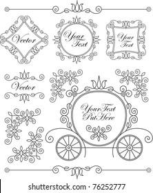set vintage vector ornaments