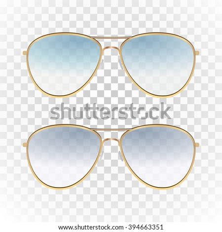 a1810d577215 Set - violet and blue color aviator sunglasses with gold frame. Sun glasses  with transparent gradient lenses. unisex style