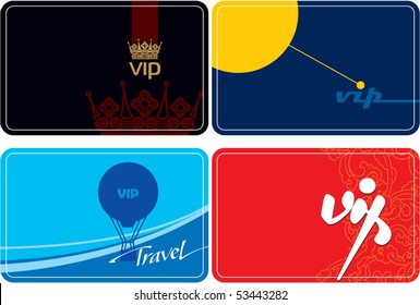 Set of VIP cards