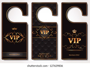 Set of VIP door tags