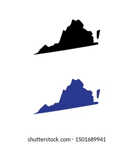 a set of Virginia state map icons