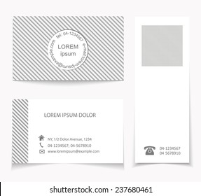 Set of visit cards and a seamless pattern