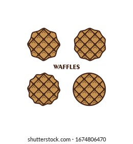 Set of waffles vector / icon collection