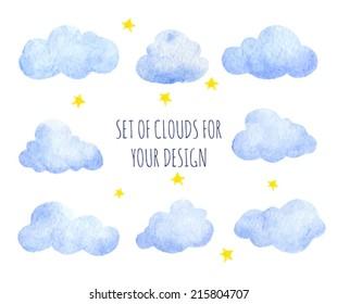 Watercolor Clouds Images, Stock Photos & Vectors | Shutterstock