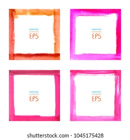 Set watercolor frames
