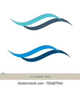 set Wave Swoosh Icon Vector Logo Template Illustration Design. Vector EPS 10.