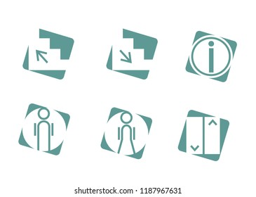 Set of WC Related Vector Line Icons. Contains such Icons as changing table, restroom,public navigation and more.
