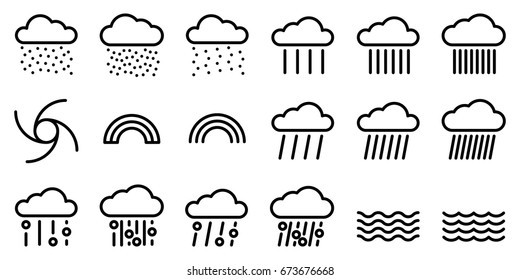 Set of weather themed icons