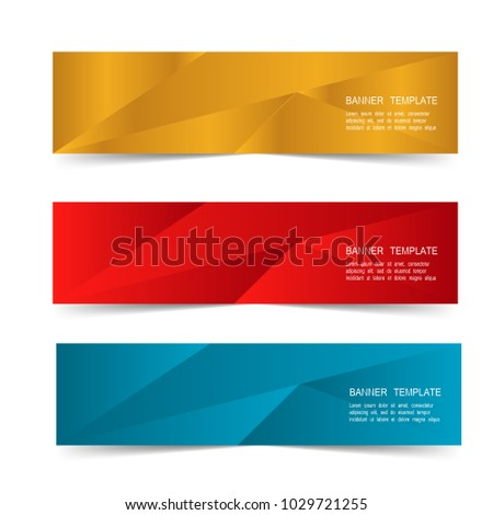Set Web Banner Label Template Isolated Stock Vector Royalty Free