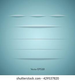 Set of web dividers. Vector illustration