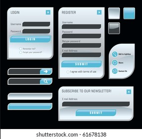 Set of web forms
