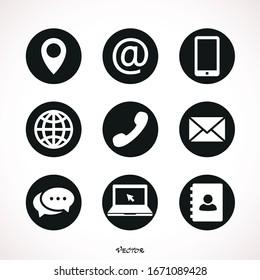 Set of web icon symbol vector
