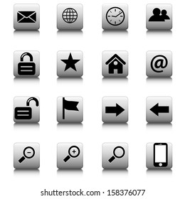 Set of web icons for business and communication
