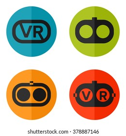 Set of web icons or flat design elements. Eps 10 vector illustration. Used transparency layers for elements of layout