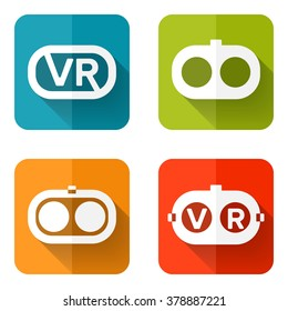 Set of web icons or flat design elements. Headset vector illustration. Used transparency layers for elements of layout