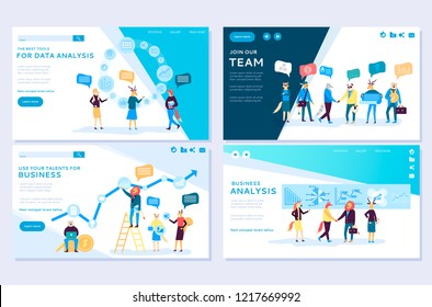 Set of web page for distance education, e-learning, online courses, tutorials. Web page vector illustration design templates. Edit and customize modern concepts. Website and mobile website development