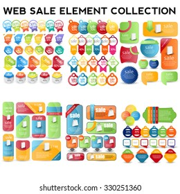 Set of Web sale elements.special offer labels and banners.