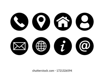 Set of Website icon vector. Communication icon symbol