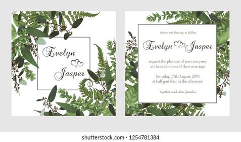 set wedding invitation greeting card 260nw