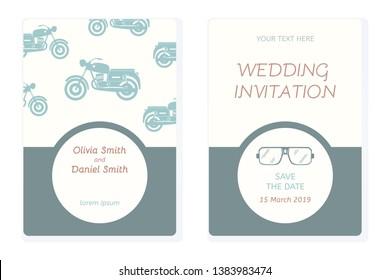 Wedding Motorbike Images Stock Photos Vectors