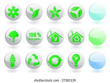Set white environmental icons. To see similar, please visit my gallery.