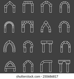 Archway Corridor Stock Illustrations, Images & Vectors