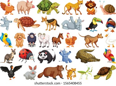 Set of Wild Animals Stickers