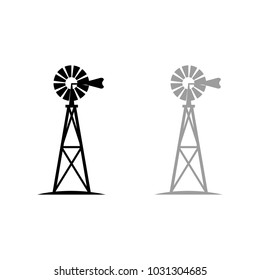 A set of windmill icons