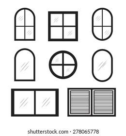set of window icons
