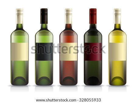 set wine liquor bottles labels template stock vector royalty free