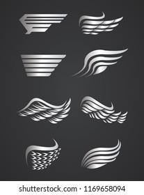 Set of wings emblems