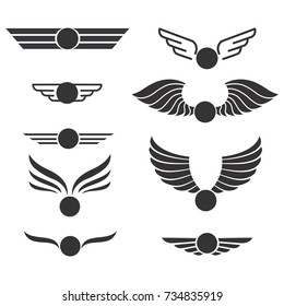 Set of wings icons. Elements for your project. Vector illustration.