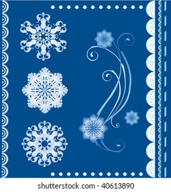 set of  the winter design elements