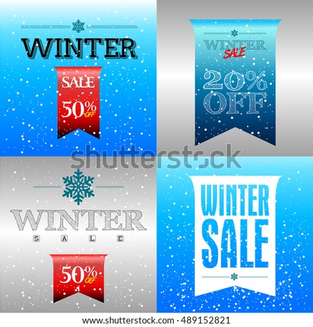 Winter Sale Banners Pilot Banners
