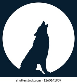 Set of wolf Silhouette of the wolf. Vector logo. wildlife. Wild wolf. Vector illustration Vector