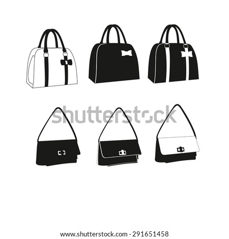 Set of Women Bags vector illustration isolated on white background. Bags  icons set. Set d7d5b9691d