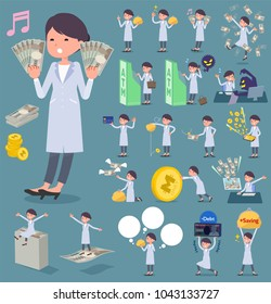 A set of women with concerning money and economy. There are also actions on success and failure. It's vector art so it's easy to edit.