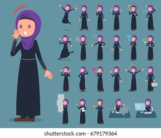 A set of women with who express various emotions. There are actions related to workplaces and personal computers. It's vector art so it's easy to edit.